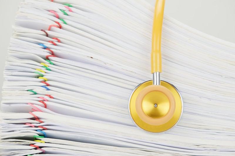 Doctors office Insurance Paper work